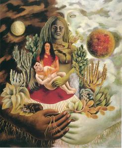 07 - Frida Kahlo - L_amoroso abbraccio dell_universo, la terra (Messico), io, Diego e il signor Xolotl